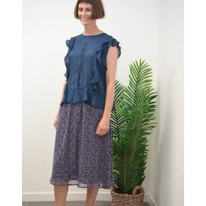 Cuba Skirt Dot Print/Navy