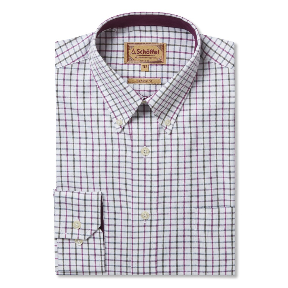 Schoffel Country Banbury Shirt Pink/Olive Check