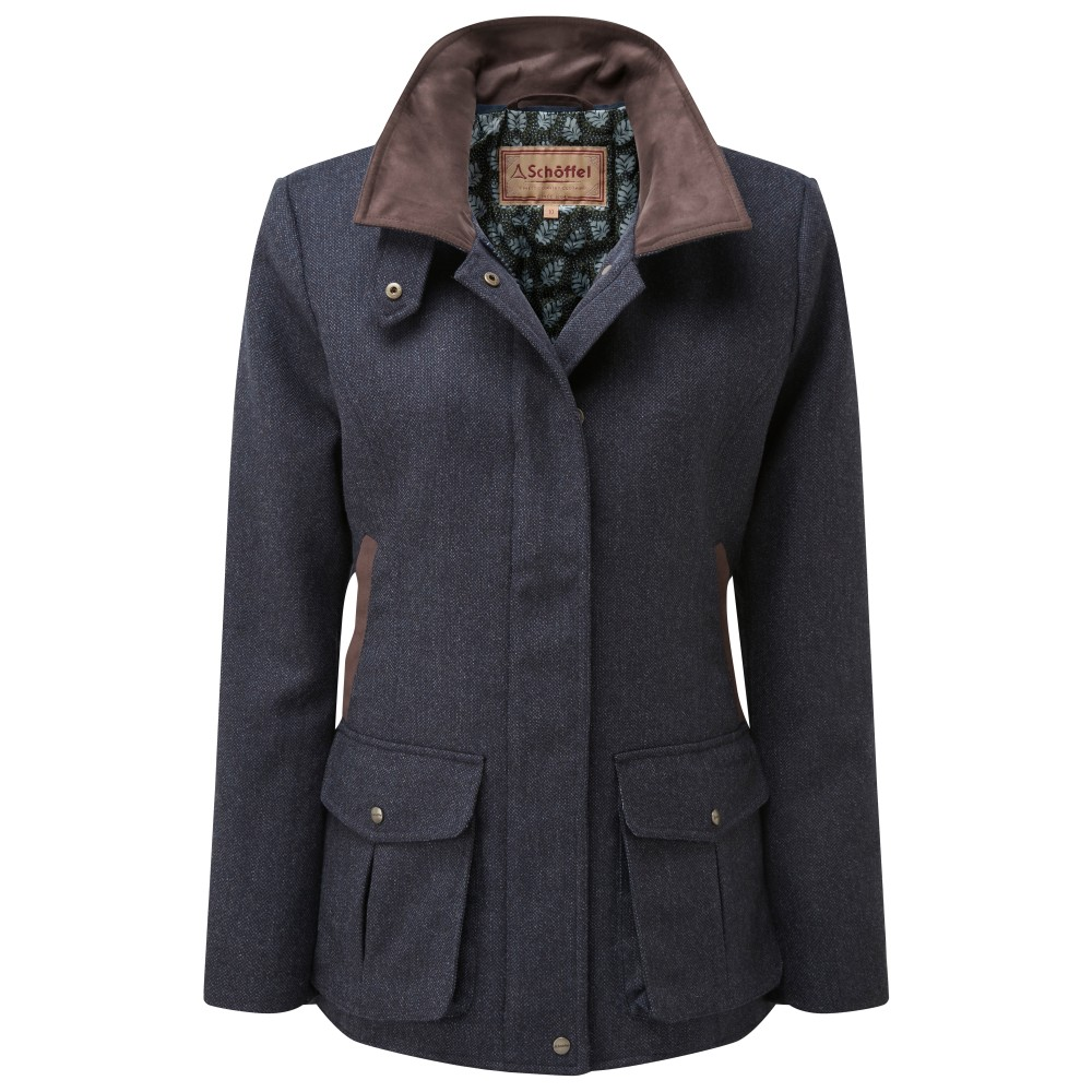 Schoffel Country Lilymere Jacket Navy Herringbone Tweed