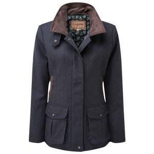 Schoffel Country Lilymere Jacket in Navy Herringbone Tweed