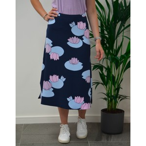 Theory Lilypad Skirt Navy/Lilac/Blue