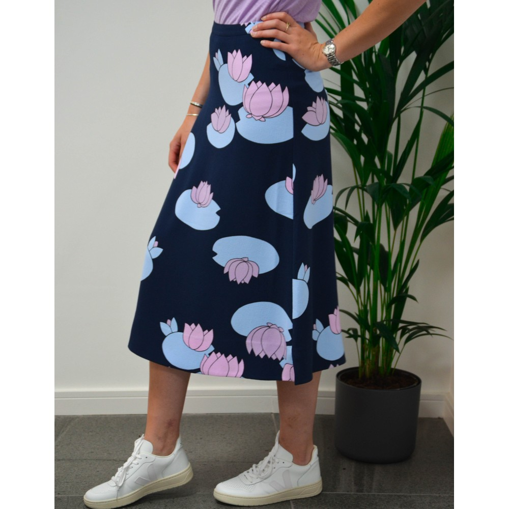 Essentiel Antwerp Theory Lilypad Skirt Navy/Lilac/Blue