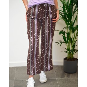 Freya Dot/Stripe Silk Trousers French Toast