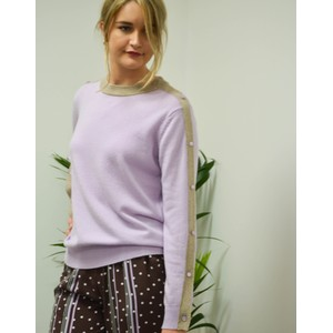 Fenni Button Sleeve Sweater Lavender