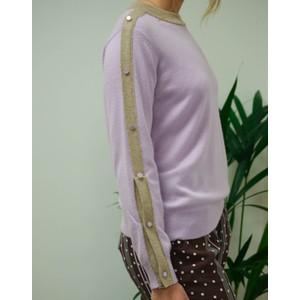 Levete Room Fenni Button Sleeve Sweater Lavender