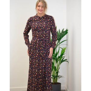 Diana Dot Print Dress Black/Multi