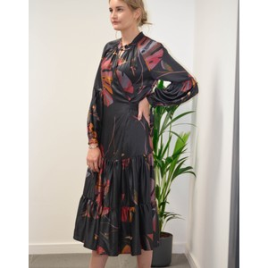Munthe Hooligan Wrap Dress Black/Multi