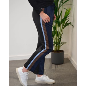 Harry Side Stripe Trousers Navy/Brown