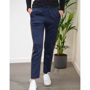Munthe Harry Side Stripe Trousers Navy/Brown