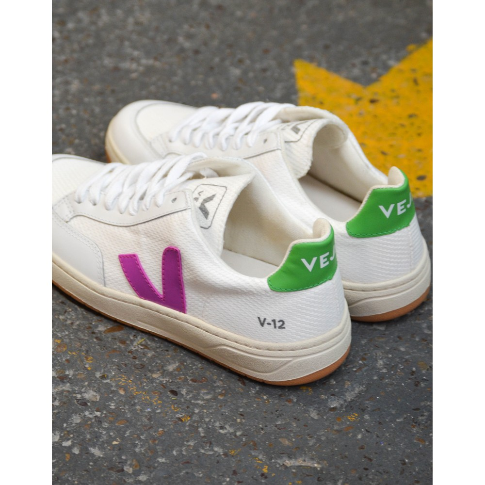 Veja V-12 Mesh Trainer White/Ultraviolet/Granny