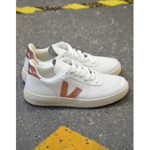 V-10 Leather Trainer Extra White/Nacre