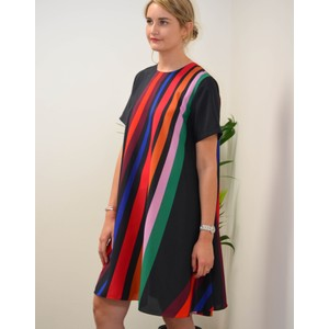 Paul Smith Womens Live Faster Dress Navy/Multi