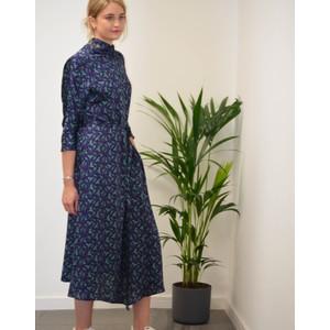 Paul Smith Womens Hi Neck Parrot Print Dress Purple/Green