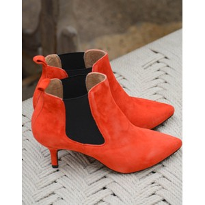 Agnete Chelsea Stilleto Boot Red