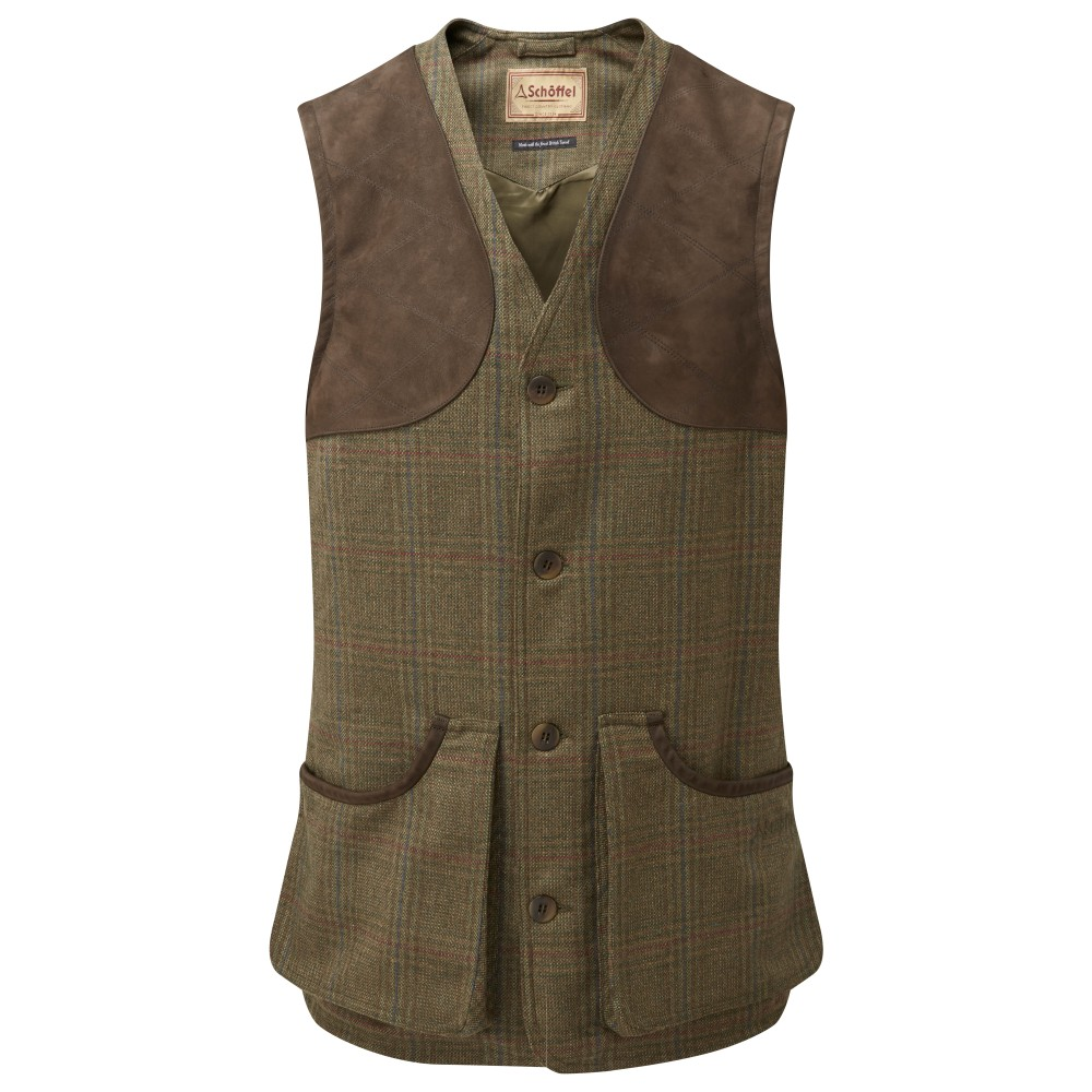 Schoffel Country Ptarmigan Tweed Waistcoat II Buckingham Tweed