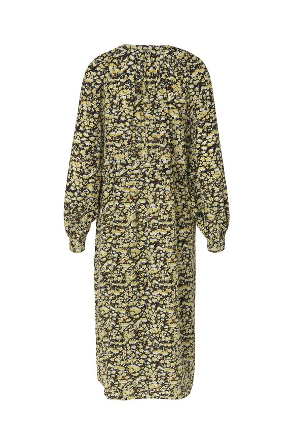 Stine Goya Lydia Long Sleeve Floral Dress Meadow Black