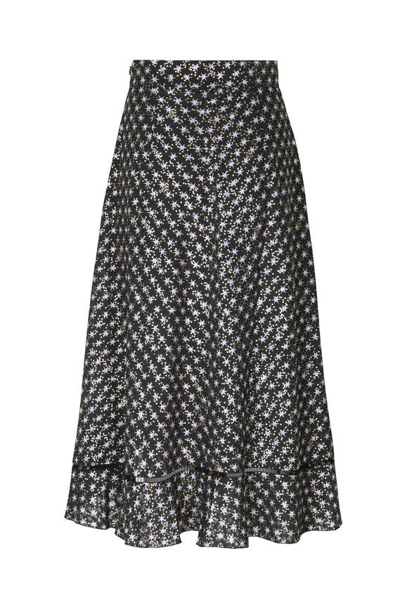 Stine Goya Marigold Stars Ruffled Skirt Stars Black