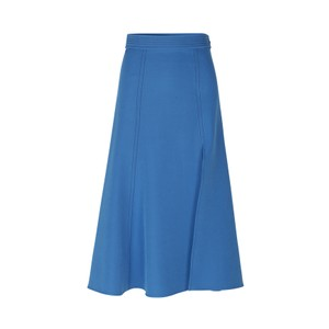 Jada A Line Side Split Skirt Blue