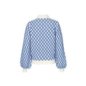 Stine Goya Carlo Contrast Cable Knit Blue/White