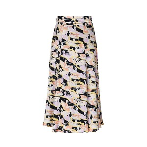 Jada Swans Side Split Skirt Swans Black