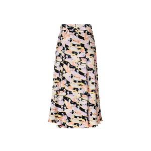 Stine Goya Jada Swans Side Split Skirt Swans Black