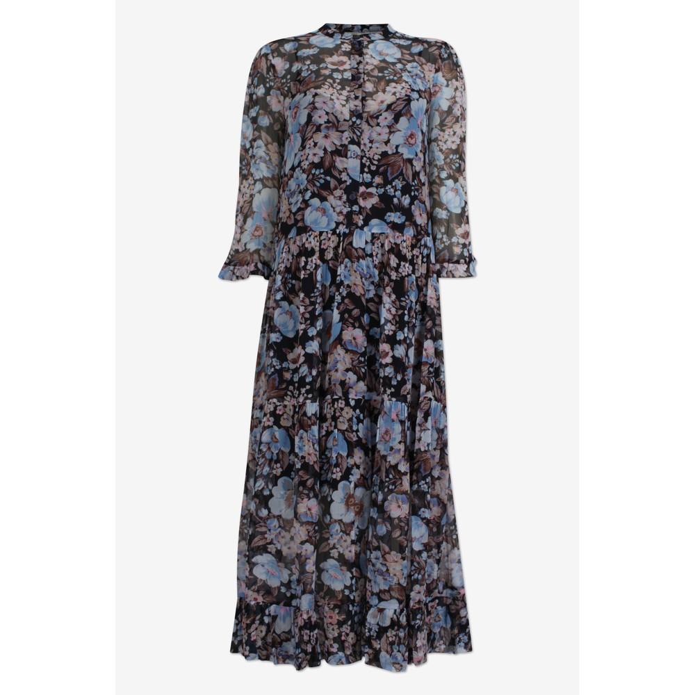 Baum Und Pferdgarten Alexondra Sheer Dress Blue/Navy Floral