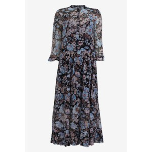 Alexondra Sheer Dress  Blue/Navy Floral