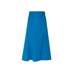 Stine Goya Jada A Line Side Split Skirt Blue