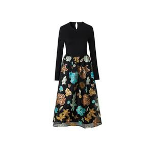 Stine Goya Alba Floral Organza Skirt Dress Flower Garden Autumn