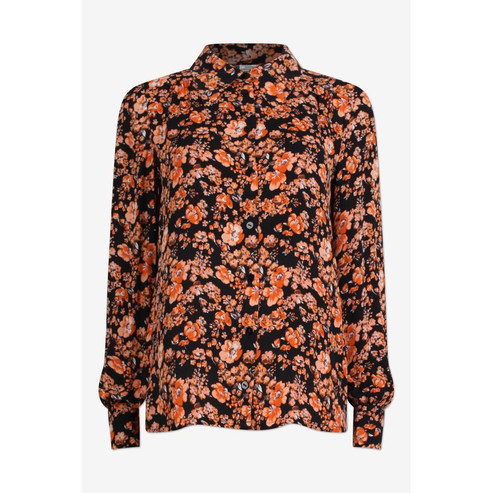 Baum Und Pferdgarten Maiken Shirt Peach/Black Floral