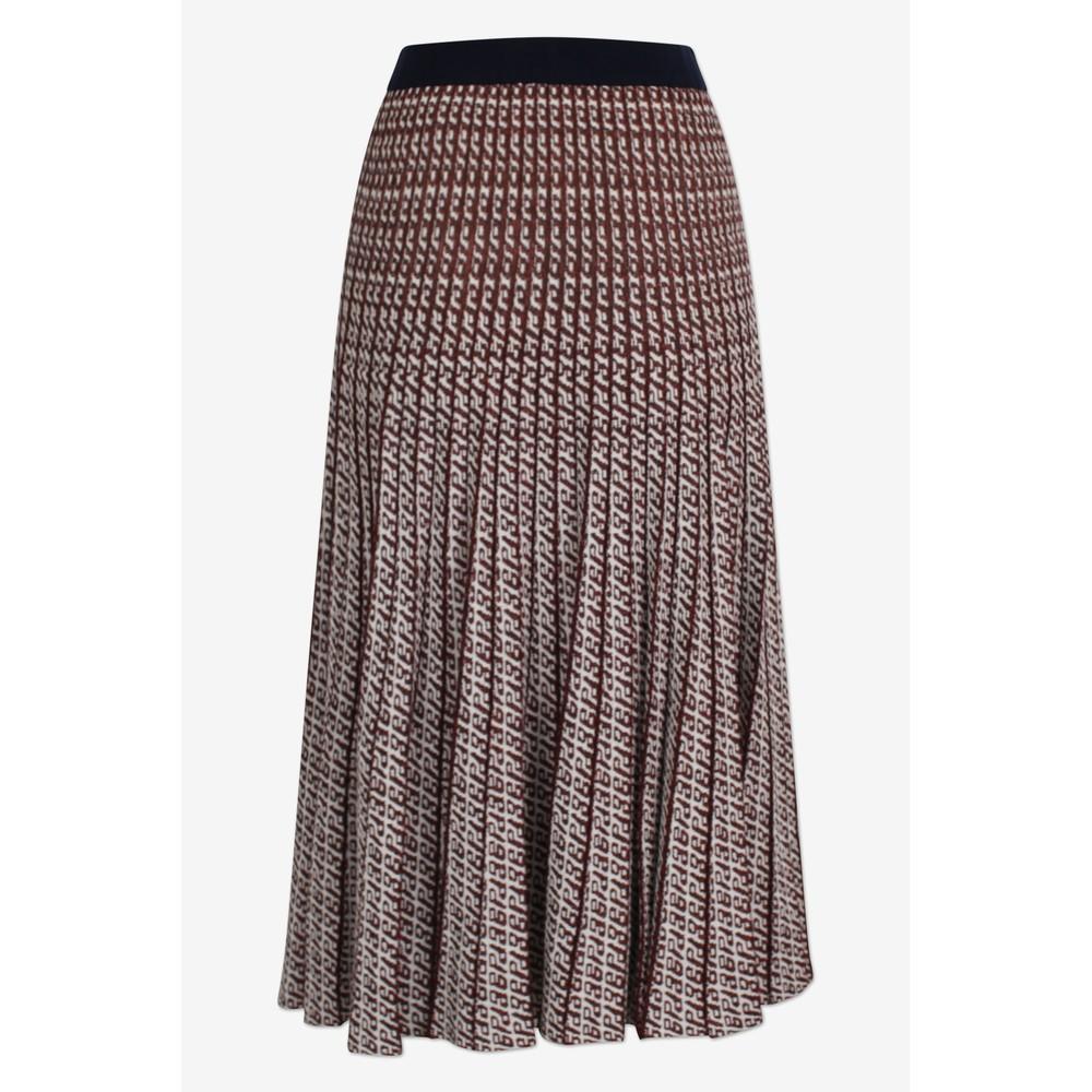 Baum Und Pferdgarten Cyrilla Pleat Lurex/Knit Skirt Cream/Red