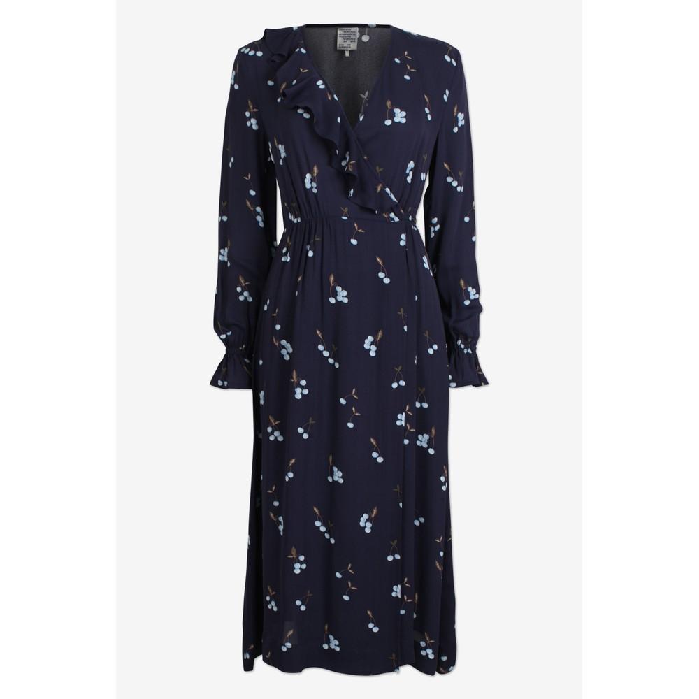 Baum Und Pferdgarten Annamay Wrap/Frill Dress Blue Cherry