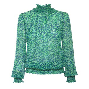 Tracy Leo Top Blue Green
