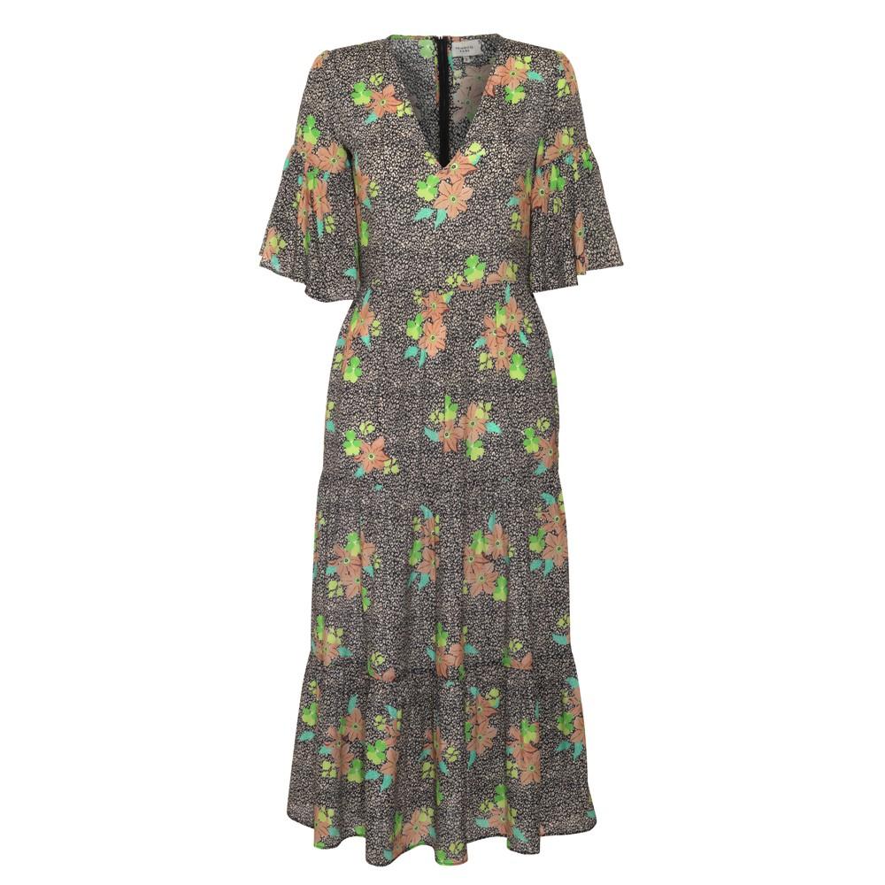 Primrose Park Alice Midnight Bloom Dress Brown/Multi