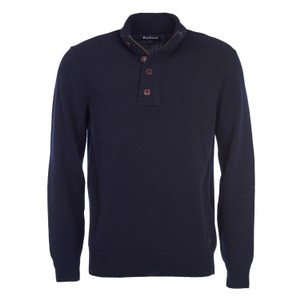 Patch Half Zip Jumper Navy
