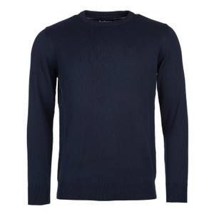 Pima Cotton Crew Neck Jumper Navy