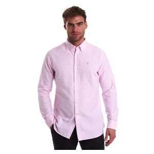 Tattersall 12 Check Tailored Fit Shirt Pink