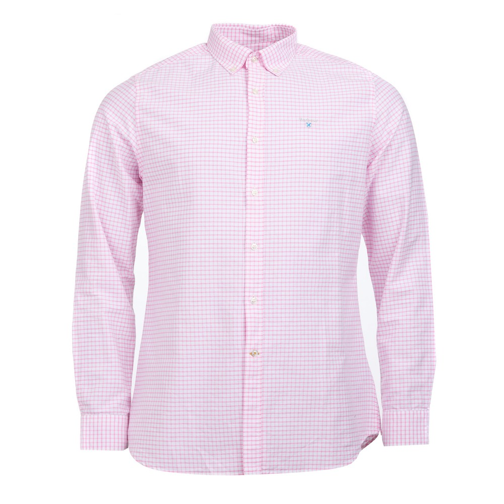 Barbour Tattersall 12 Check Tailored Fit Shirt Pink
