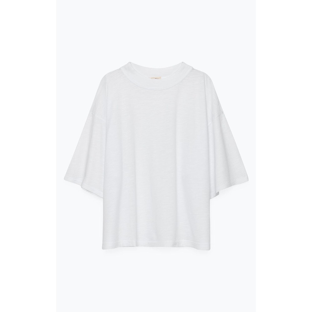 American Vintage Jamostate S/S Boxy Top White