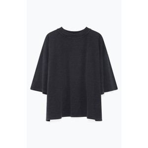 Jamostate S/S Boxy Top Vintage Carbon