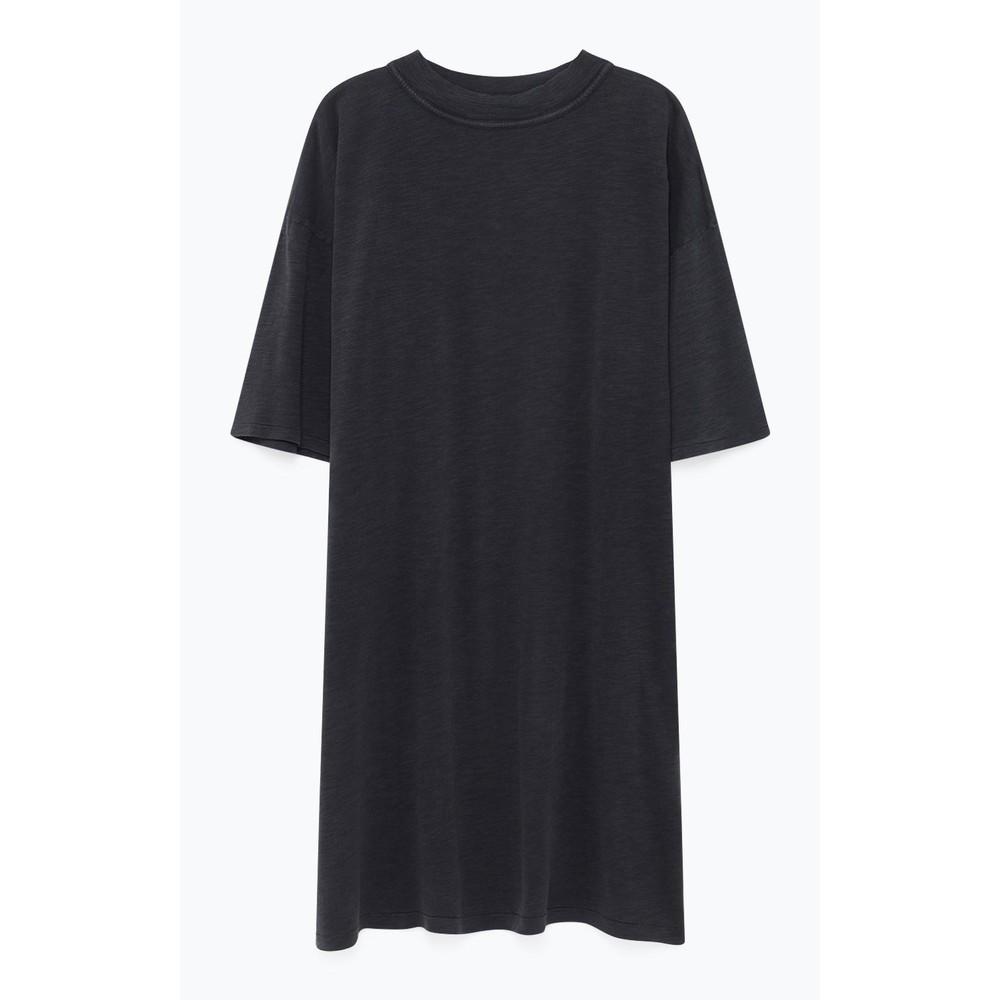 American Vintage Jamostate Short Sleeve Hi Neck Dress Vintage Carbon