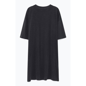 Jamostate Short Sleeve Hi Neck Dress Vintage Carbon