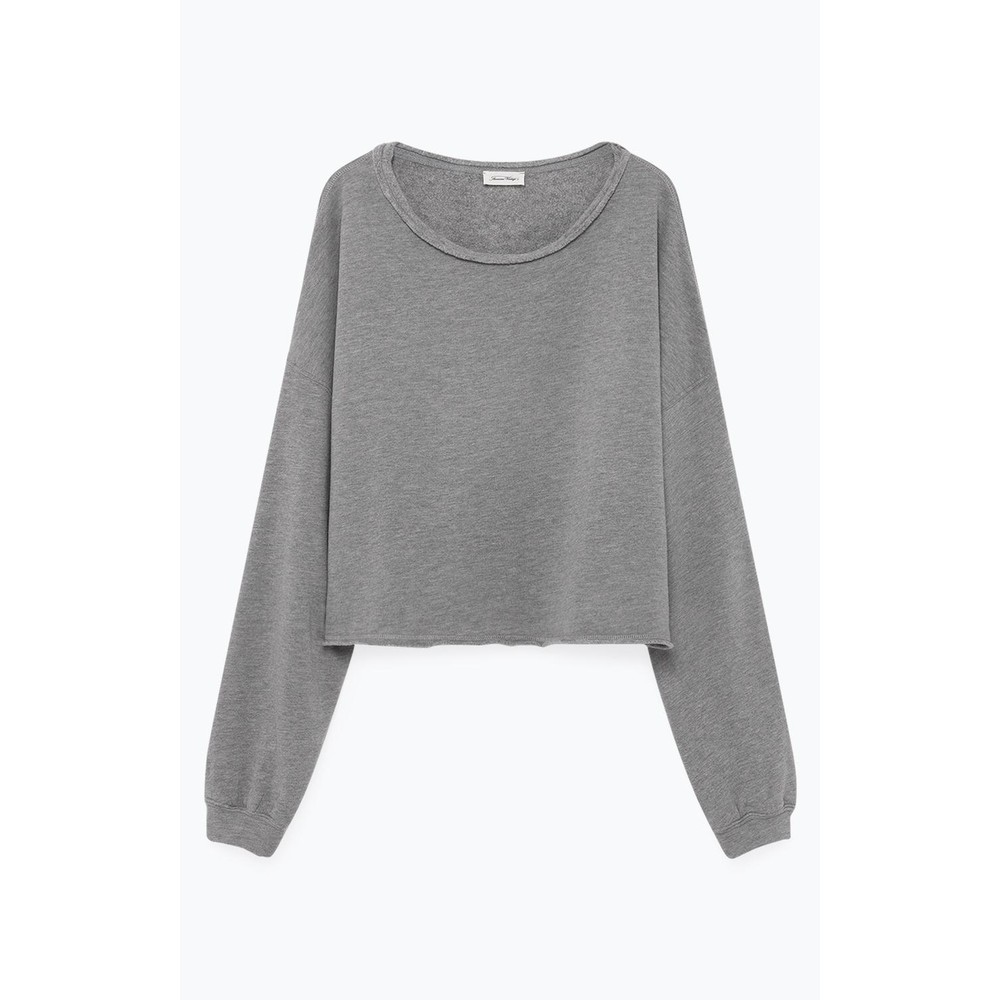 American Vintage Retburg Raw Hem Sweater Heather Grey