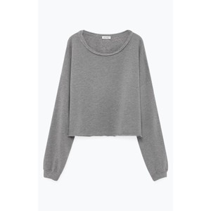 Retburg Raw Hem Sweater Heather Grey
