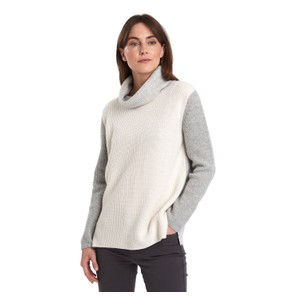 Dipton Roll Neck Knit Cloud/Grey Marl