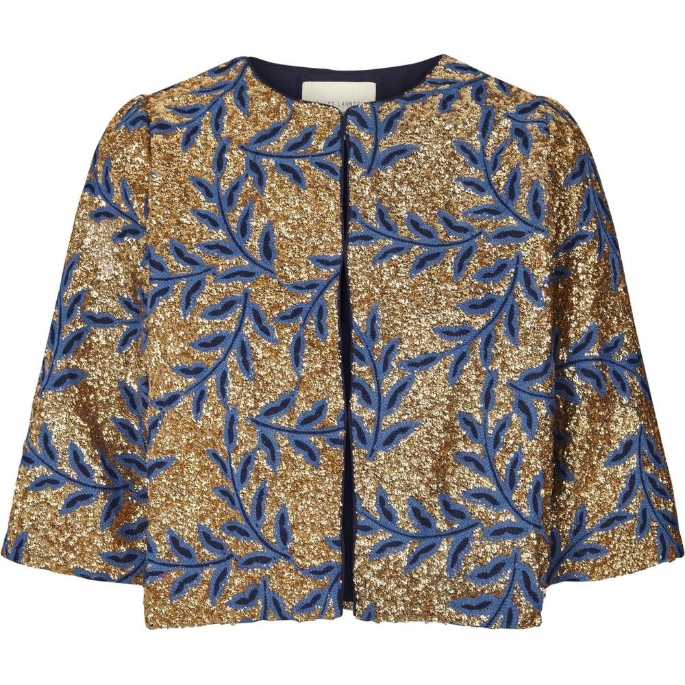 Lollys Laundry Trine Sequin Jacket Gold/Blue