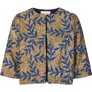 Trine Sequin Jacket Gold/Blue