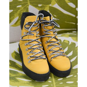 Agda Lace Up Boot Yellow