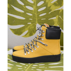 Shoe The Bear Agda Lace Up Boot Yellow