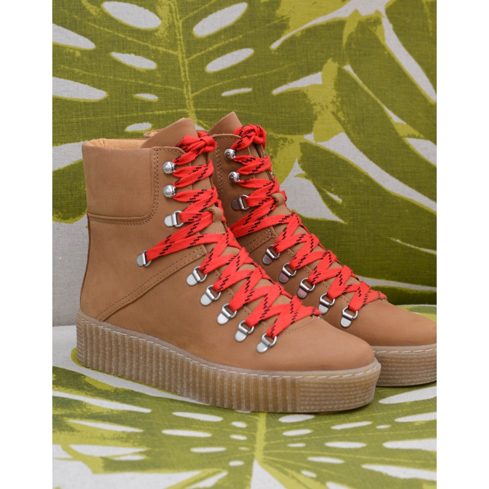 Shoe The Bear Agda Lace Up Boot Tan
